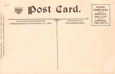 ber007005 - Bear Post Card Old Vintage Antique  back