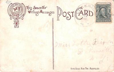 ber007015 - Bear Post Card Old Vintage Antique  back