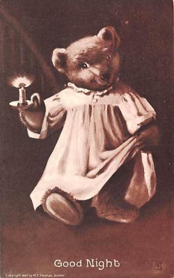 ber007019 - Bear Post Card Old Vintage Antique