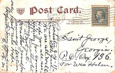 ber007021 - Bear Post Card Old Vintage Antique  back