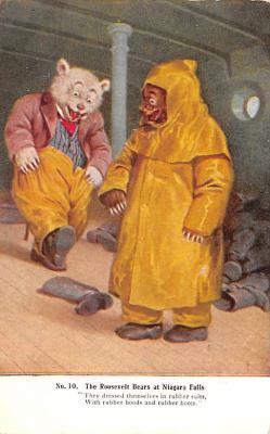 ber007027 - Bear Post Card Old Vintage Antique