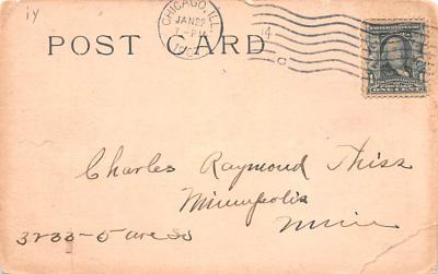 ber007031 - Bear Post Card Old Vintage Antique  back