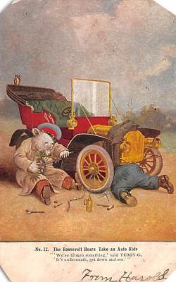 ber007043 - Bear Post Card Old Vintage Antique