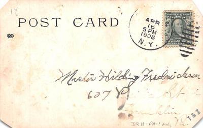 ber007043 - Bear Post Card Old Vintage Antique  back