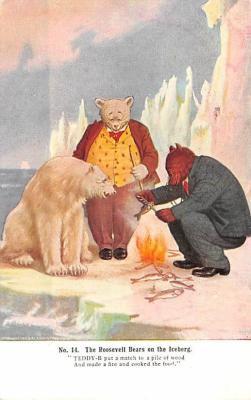ber007045 - Bear Post Card Old Vintage Antique