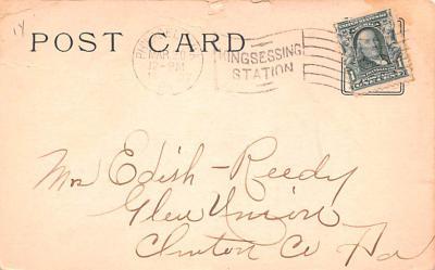 ber007049 - Bear Post Card Old Vintage Antique  back