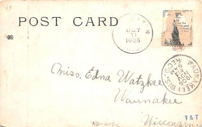 ber007055 - Bear Post Card Old Vintage Antique  back