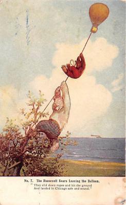 ber007063 - Bear Post Card Old Vintage Antique