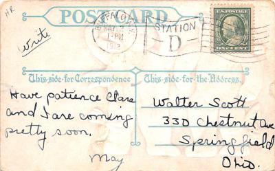 ber007071 - Bear Post Card Old Vintage Antique  back