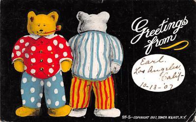 ber007073 - Bear Post Card Old Vintage Antique