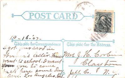 ber007073 - Bear Post Card Old Vintage Antique  back