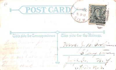 ber007075 - Bear Post Card Old Vintage Antique  back
