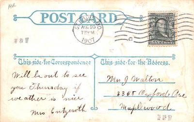 ber007081 - Bear Post Card Old Vintage Antique  back