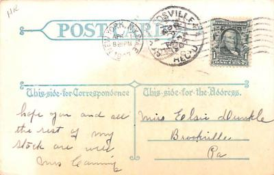 ber007095 - Bear Post Card Old Vintage Antique  back