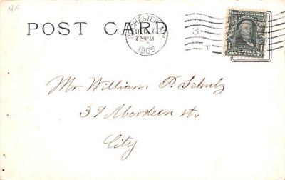 ber007097 - Bear Post Card Old Vintage Antique  back