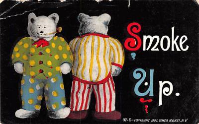 ber007101 - Bear Post Card Old Vintage Antique