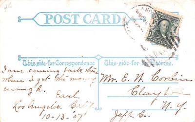 ber007101 - Bear Post Card Old Vintage Antique  back
