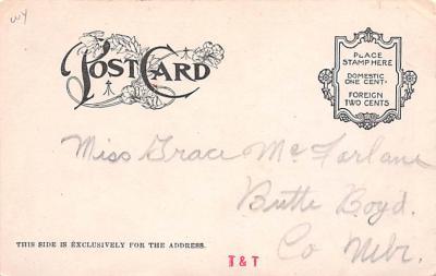 ber007103 - Bear Post Card Old Vintage Antique  back