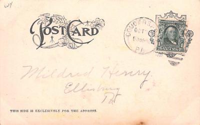 ber007105 - Bear Post Card Old Vintage Antique  back