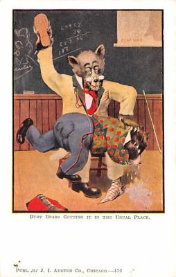 ber007111 - Bear Post Card Old Vintage Antique