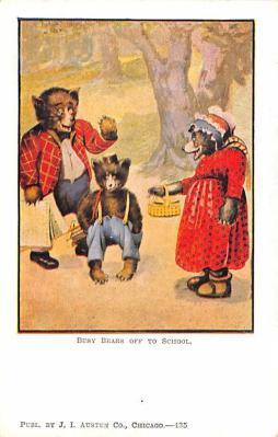 ber007115 - Bear Post Card Old Vintage Antique