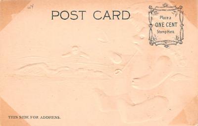 ber007123 - Bear Post Card Old Vintage Antique  back
