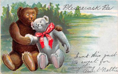 ber007125 - Bear Post Card Old Vintage Antique