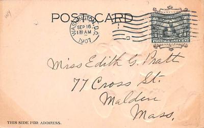 ber007125 - Bear Post Card Old Vintage Antique  back