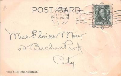 ber007127 - Bear Post Card Old Vintage Antique  back
