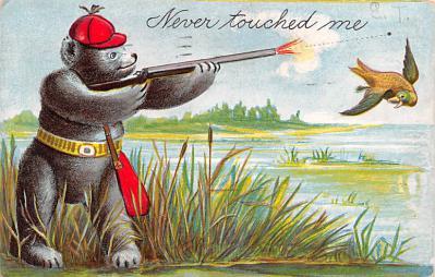 ber007131 - Bear Post Card Old Vintage Antique