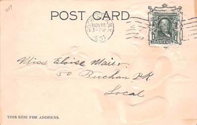 ber007133 - Bear Post Card Old Vintage Antique  back