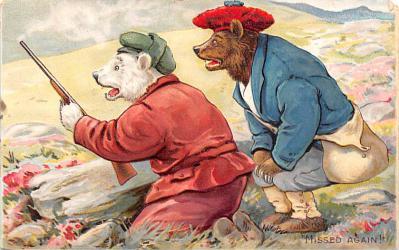ber007141 - Bear Post Card Old Vintage Antique