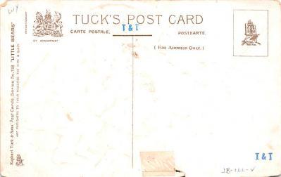ber007141 - Bear Post Card Old Vintage Antique  back