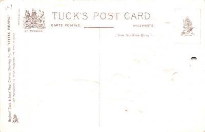 ber007143 - Bear Post Card Old Vintage Antique  back