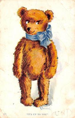 ber007147 - Bear Post Card Old Vintage Antique