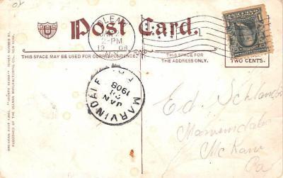 ber007149 - Bear Post Card Old Vintage Antique  back