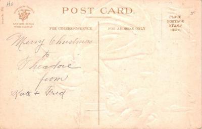 ber007157 - Bear Post Card Old Vintage Antique  back