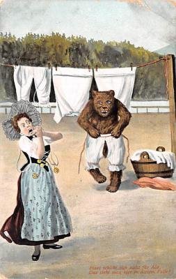 ber007163 - Bear Post Card Old Vintage Antique