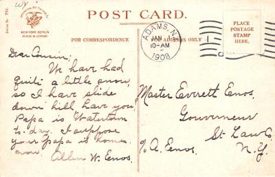 ber007165 - Bear Post Card Old Vintage Antique  back