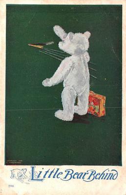 ber007169 - Bear Post Card Old Vintage Antique