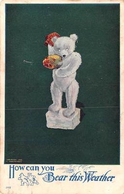 ber007171 - Bear Post Card Old Vintage Antique