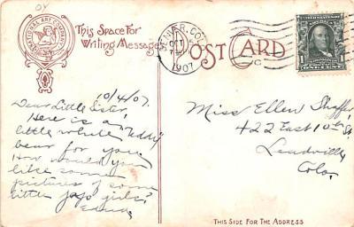 ber007171 - Bear Post Card Old Vintage Antique  back