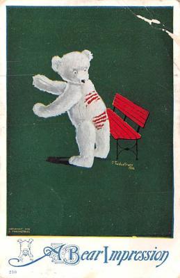 ber007173 - Bear Post Card Old Vintage Antique