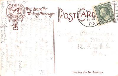 ber007173 - Bear Post Card Old Vintage Antique  back