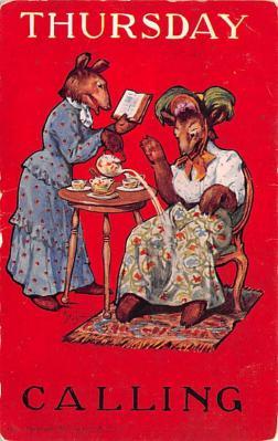 ber007175 - Bear Post Card Old Vintage Antique