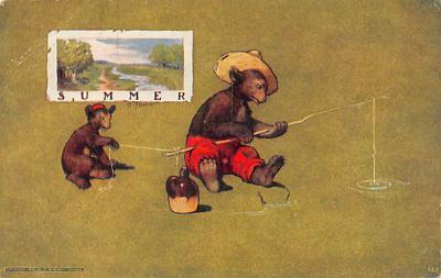ber007179 - Bear Post Card Old Vintage Antique