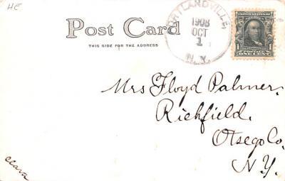 ber007179 - Bear Post Card Old Vintage Antique  back