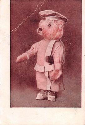 ber007185 - Bear Post Card Old Vintage Antique