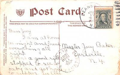 ber007191 - Bear Post Card Old Vintage Antique  back