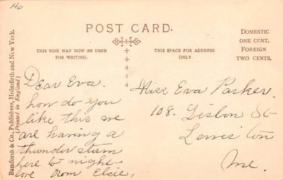 ber007193 - Bear Post Card Old Vintage Antique  back